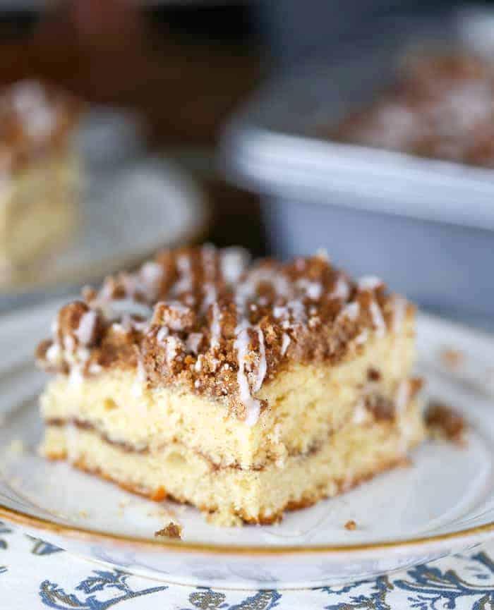 Cinnamon Swirl Streusel Coffee Cake