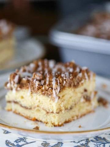 Cinnamon Swirl Streusel Coffee Cake for the Weekends! (9x13 Pan)