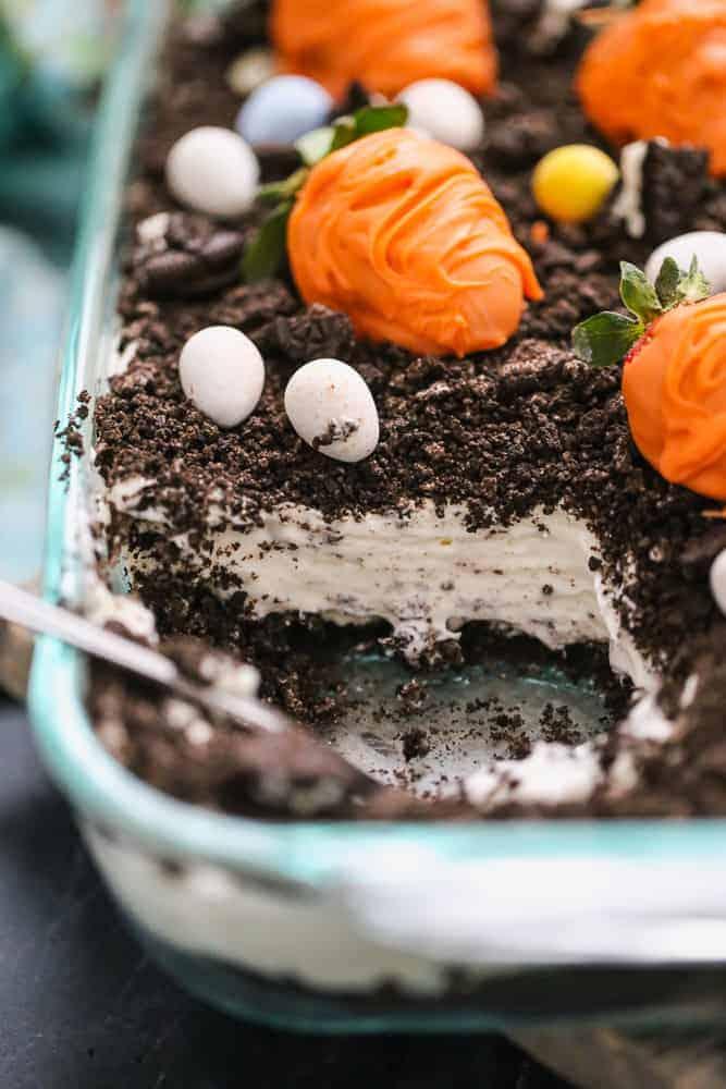 Oreo Dirt Pudding Cake
