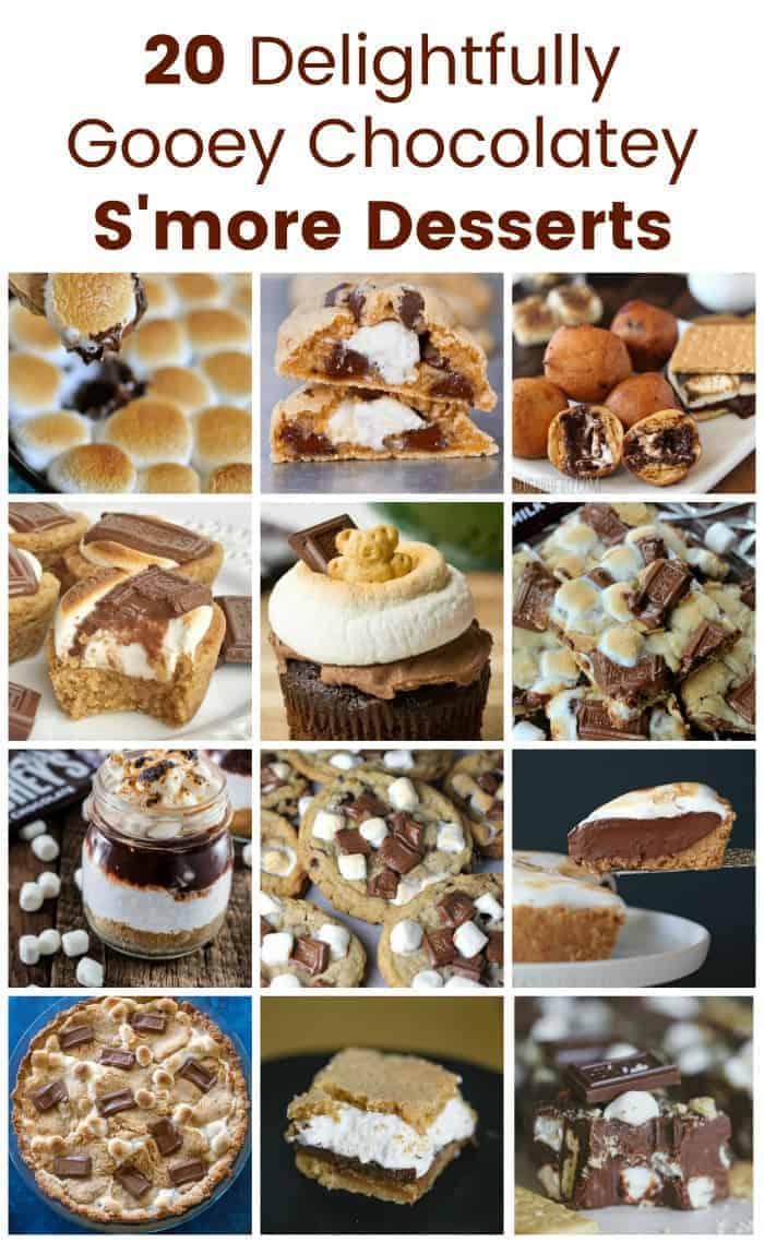 20 Delightfully Gooey Chocolatey S\'more Desserts