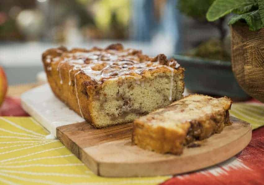 Kim Lange makes Apple Fritter Bread, as seen on Food Network's The Kitchen, Season 20.