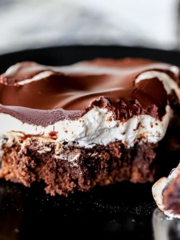 Chocolate Covered Fluffy Marshmallow Brownies