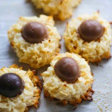 Dove Easter Egg Coconut Macaroon Cookies