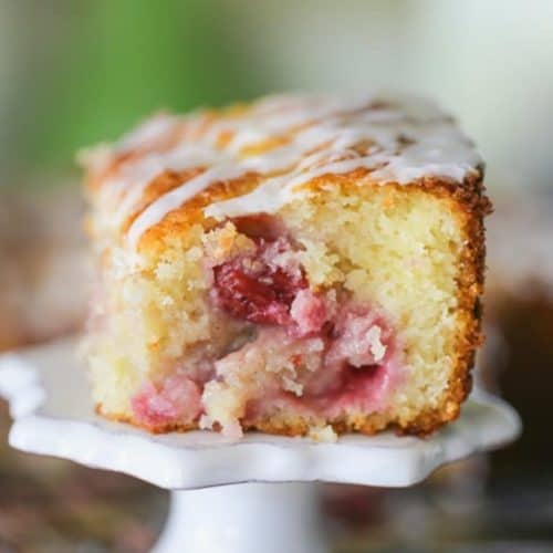 Sour Cherry Cobbler Coffee Cake