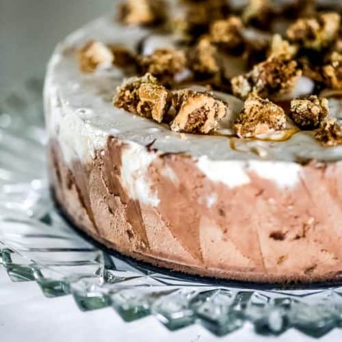 Reese's Puffs Treat Ice Cream Sundae Cake