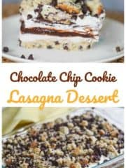 Chocolate Chip Cookie Lasagna Dessert (Gluten Free option!)