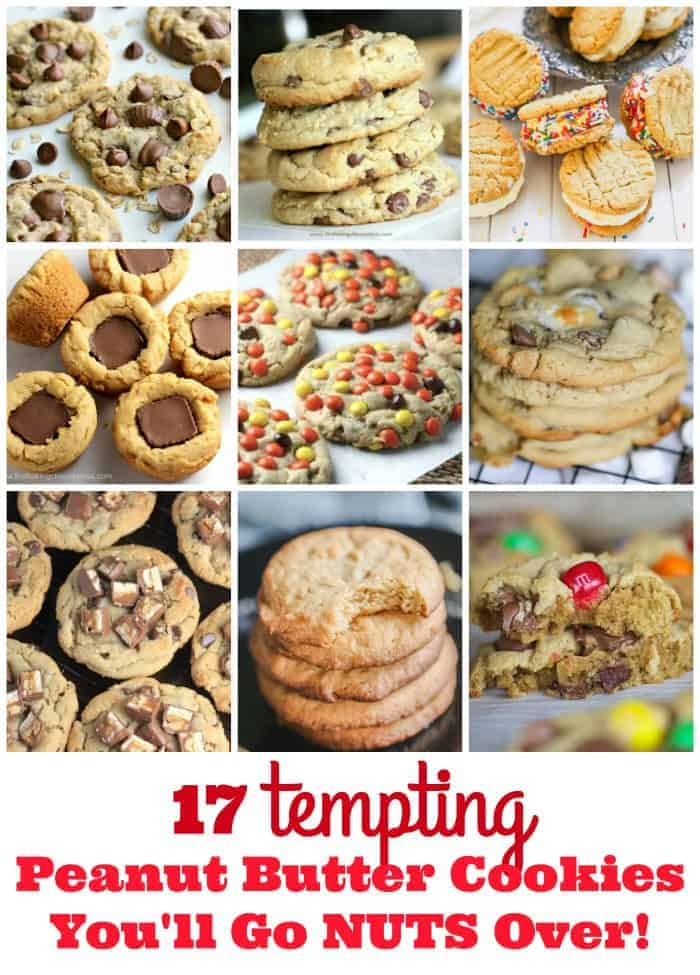 17 Tempting Peanut Butter Cookies You\'ll Go Nuts Over!