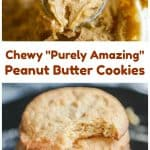 """""""Purely Amazing"""" Chewy Peanut Butter Cookies - Healthy & Gluten-Free"""