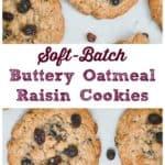 Soft-Batch Buttery Oatmeal Raisin Cookies
