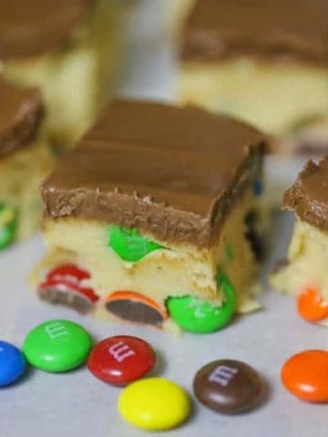 M&M Cookie Dough Bars (No-Bake)
