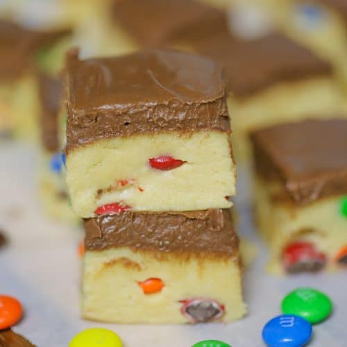 M&M Cookie Dough Bars (No-Bake)