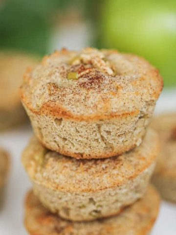 Cinnamon Apple Muffins - GF, Keto | Low-Carb, Sugar-Free