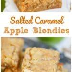 Salted Caramel Chip Apple Blondies