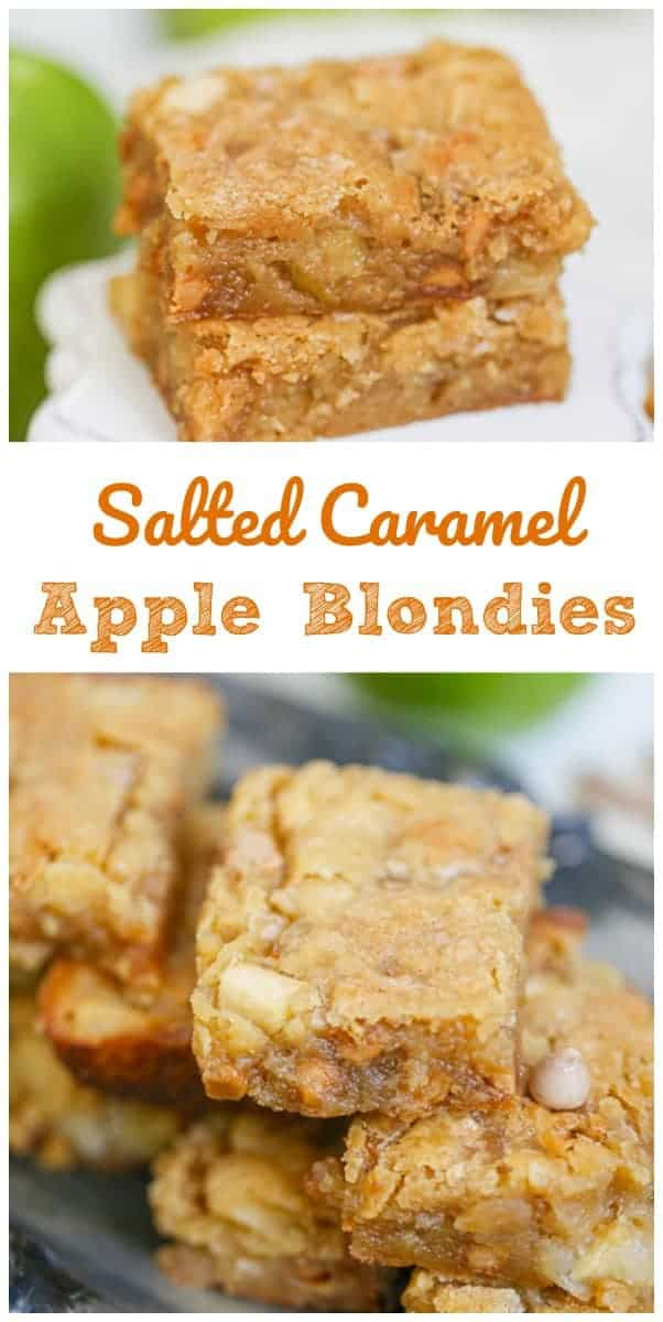 Salted Caramel Chip Apple Blondies