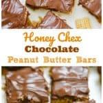 OMG Honey Chex Chocolate Peanut Butter Bars - No-Bake - GF
