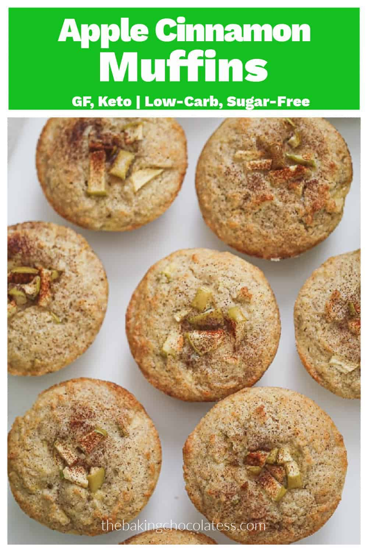 Cinnamon Apple Muffins - GF, Keto   Low-Carb, Sugar-Free