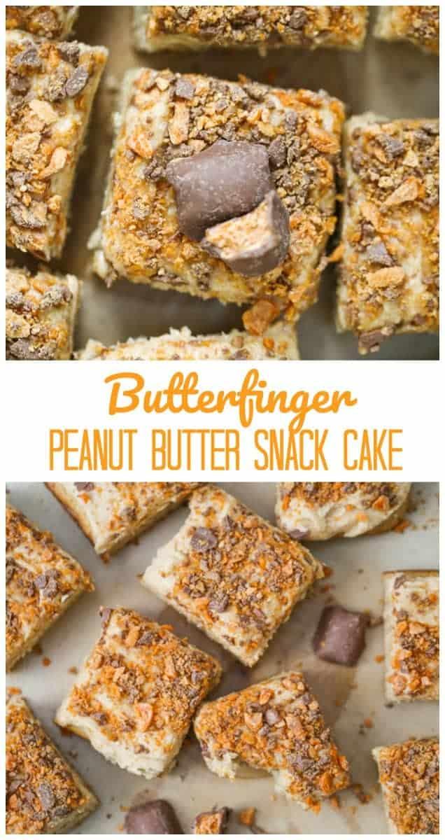 Butterfinger Peanut Butter Snack Cake