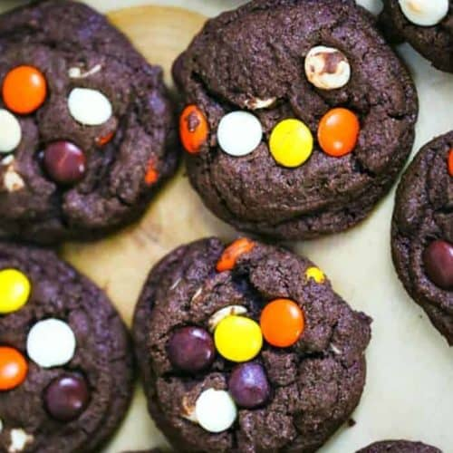 Reese's Peanut Butter Chocolate Fudge Cookies
