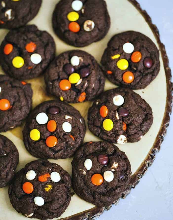 Reese\'s Peanut Butter Chocolate Fudge Cookies