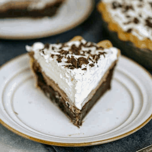 Ultimate Triple Layer Chocolate Brownie Mousse Cream Pie