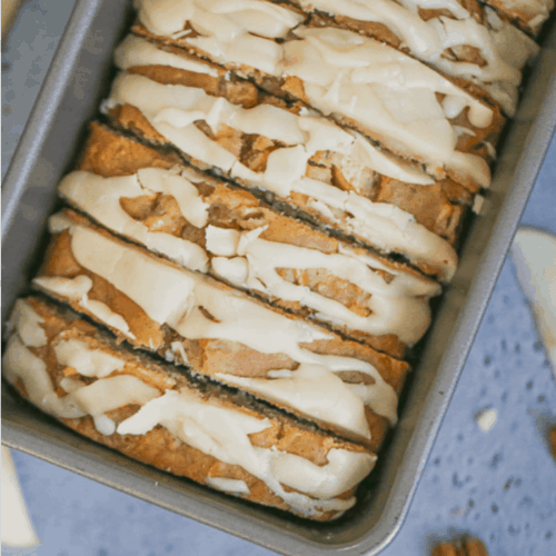 Maple Apple Pecan Bread with Maple Glaze