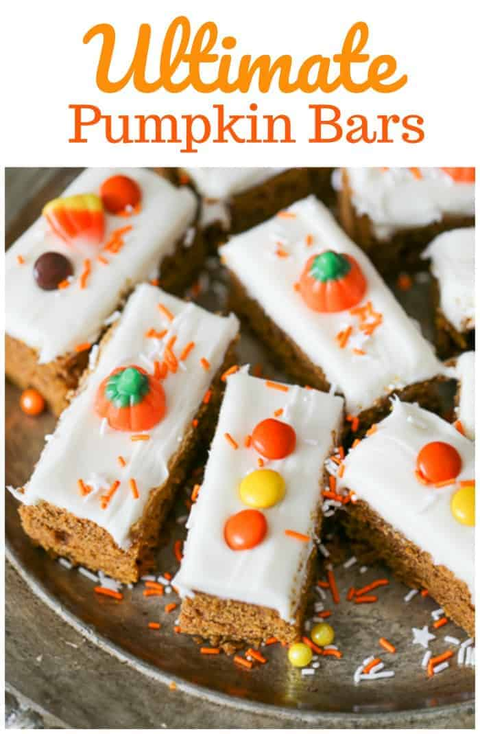 Ultimate Pumpkin Bars with Creamy Cream Cheese Frosting