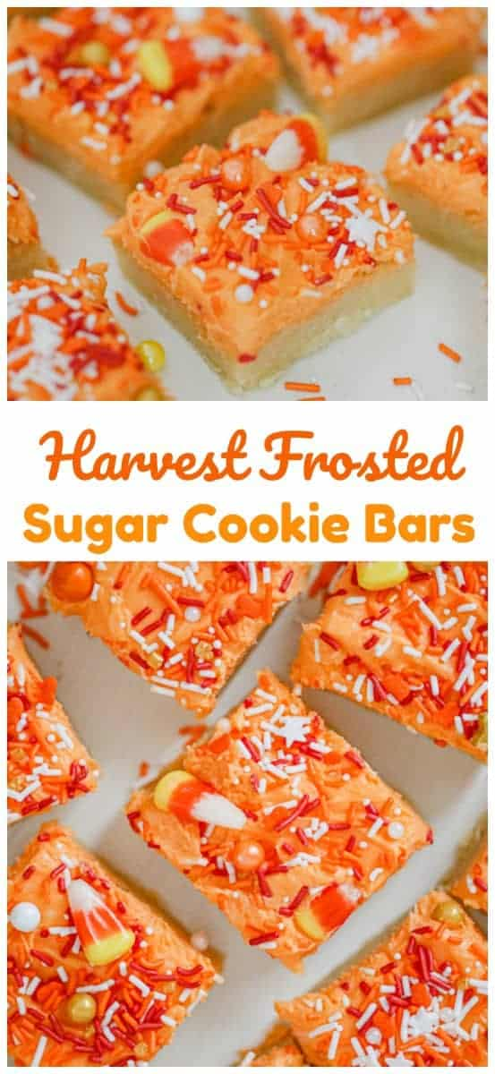 Harvest Frosted Sugar Cookie Bars