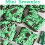 Triple Chocolate Mint Brownies with White Chocolate Buttercream Frosting5