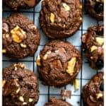 Brownie Walnut Chocolate Chunk Cookies - Vegan & GF Options too!