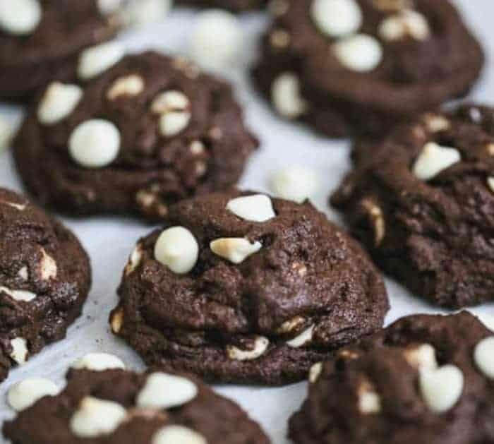 Chocolate Fudge White Chocolate Chip Cookies