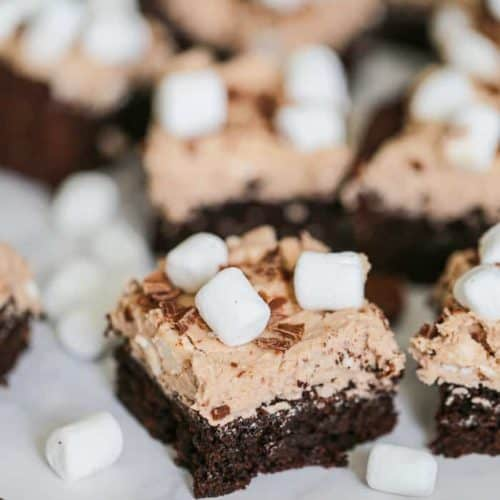 Cocoa Marshmallow Brownies - GF option
