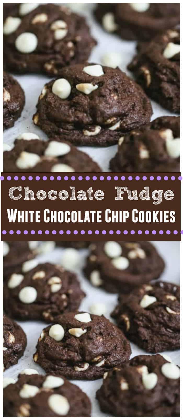Chocolate Fudge White Chocolate Chip Cookies - Vegan & GF Options