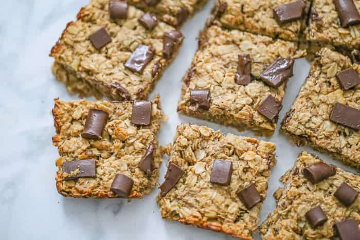 Healthy Chunky Monkey Oatmeal Bars - Easy