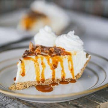 Easy Caramel Heath Cheesecake Pie