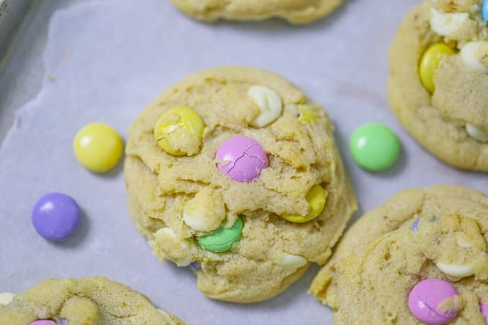 M&M Easter Cookies