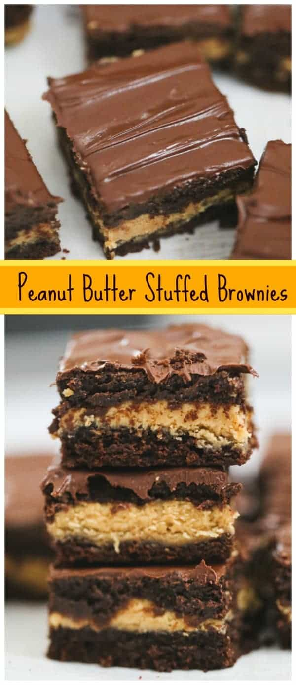 Peanut Butter Stuffed Brownies (Easy & Epic!)