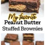 Peanut Butter Stuffed Brownie