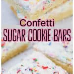 Birthday Confetti Frosted Sugar Cookie Bars