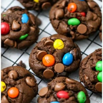 Thick & Chewy Chocolate M&M Cookies