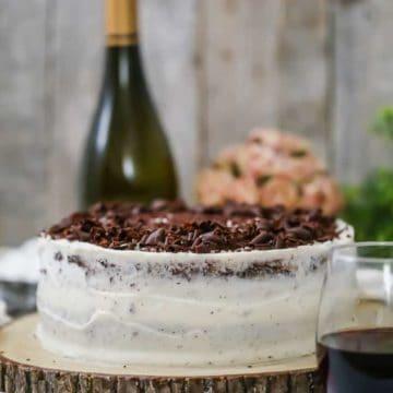Decadent Red Wine Chocolate Cake
