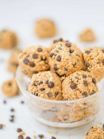Healthy Chocolate Chip Cookie Dough Balls - GF option