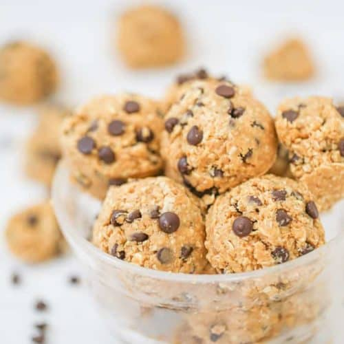 Healthy Chocolate Chip Cookie Dough Balls - GF option