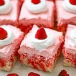 Raspberry Cream Jello Poke Cake
