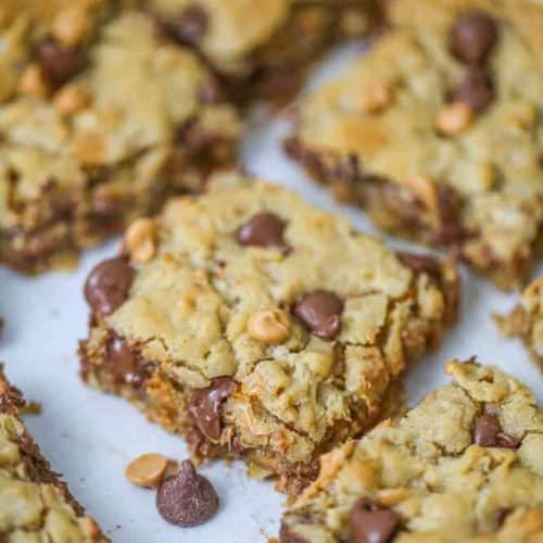 Oatmeal Butterscotch & Chocolate Chip Cookie Bars