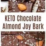 Keto Chocolate Almond Joy Bark