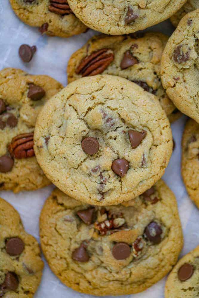 Milk Chocolate Chip Toffee Pecan Cookies