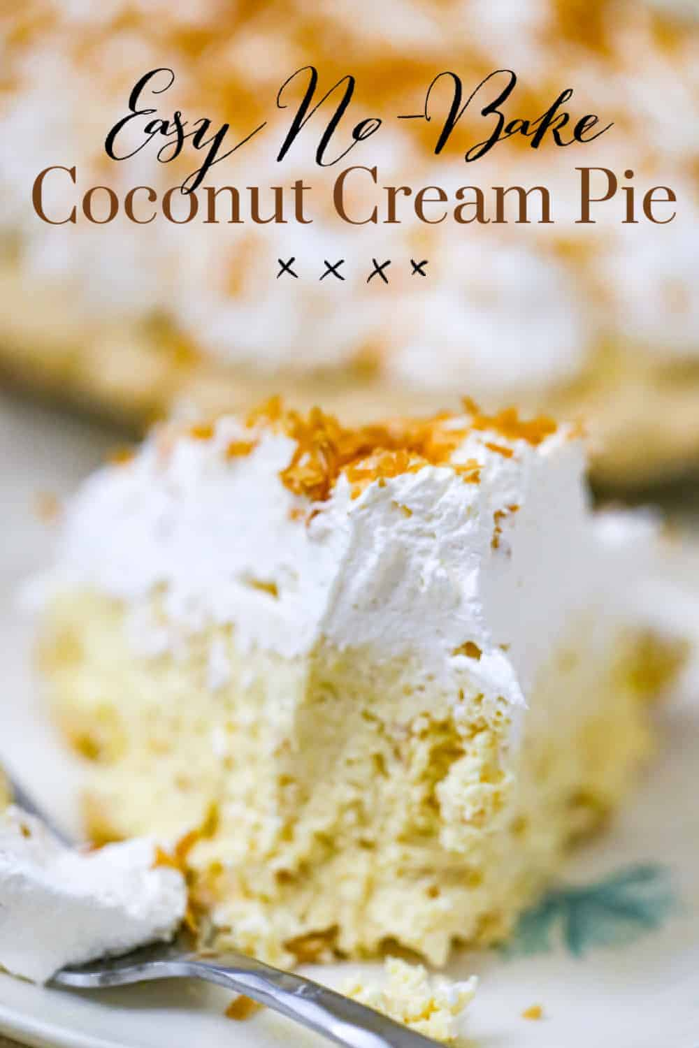 Easy No-Bake Coconut Cream Pie!