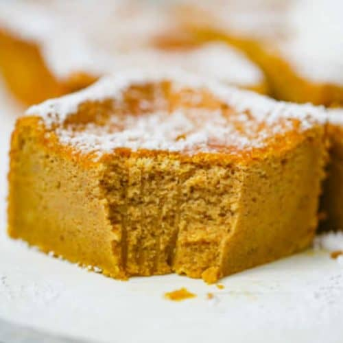 Pumpkin Magic Custard Cake