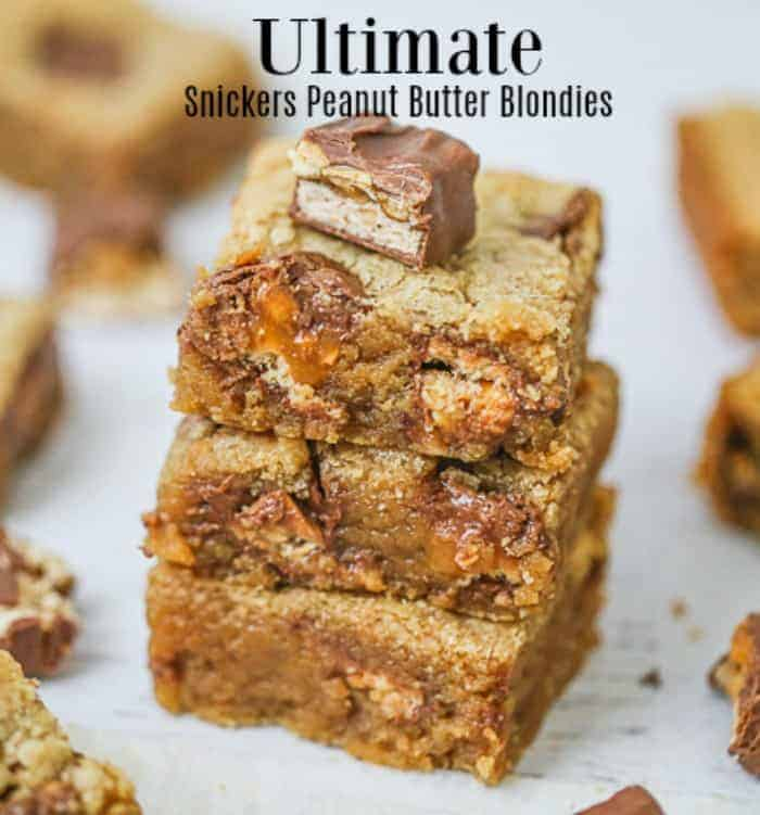 Ultimate Snickers Peanut Butter Blondies