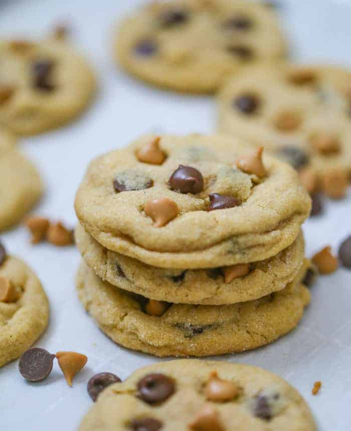 Soft Batch Peanut Butter Chocolate Chip Cookies The Baking Chocolatess